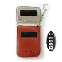 Keyless Bag - RFID Blocking Key Case - Protect Car Keyless Entry Fobs - Anti Car Theft - Keychain - Real Genuine Leather - Faraday Cage - For Keyless Go Systems -