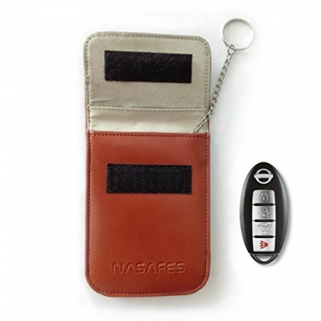Keyless Bag - RFID Blocking Key Case - Protect Car Keyless Entry Fobs - Anti Car Theft - Keychain - Real Genuine Leather - Faraday Cage - For Keyless Go Systems -