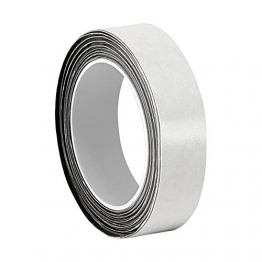 """3M 3/4-5-CN4190 Gray Double-Coated Conductive Fabric Tape, 5 yd Length, 0.75"""" Width, Roll - 1"""