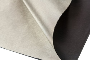 Black and Silver RFID Blocking Faraday Shielded Fabric: Radiation WIFI & RF Shielding: 40x40 Nickel & Copper EMF Identity Theft Blocker for your Wallet Phone or Laptop. Includes 20' Grounding Cord - 3