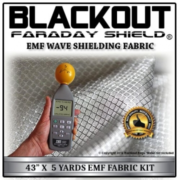 "EMF RF RFID Cell Block Wave Shielding Fabric 43"" X 5 Yards Blackout Faraday Shield - 1"
