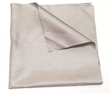 JWtextec Conductive Fabric RFID Blocking EMI Shielding Diamond Style Copper/Nickel Coating Fabric (39.37x39.37 Inches(1mX1m)) - 1