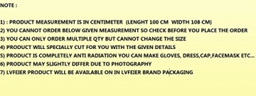 LVFEIER ANTI RADIATION/CONDUCTIVE/SHIELDING FABRIC L 100 CM X 108 CM WIDTH - 6