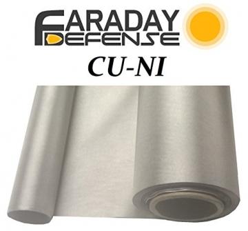 "RF RFID EMF Shielding Nickel Copper Fabric 50"" x 1' Signal Blocking Material - 1"