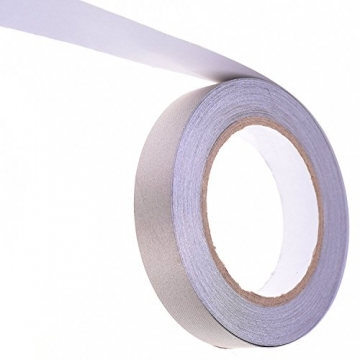 WINGONEER Double Conductors, Interference Suppression, Shielding, Isolation, Electromagnetic Radiation Protection, Repair Plain Conductive Cloth Fabric Adhesive Tape - 0.6in x 65ft - 4