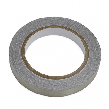 WINGONEER Double Conductors, Interference Suppression, Shielding, Isolation, Electromagnetic Radiation Protection, Repair Plain Conductive Cloth Fabric Adhesive Tape - 0.3in x 65ft - 2